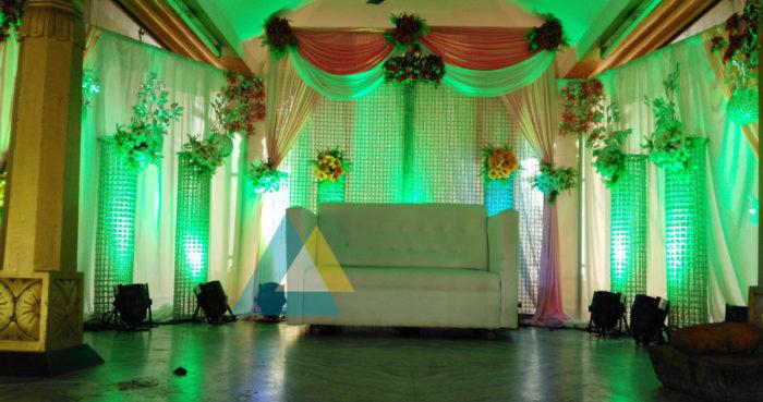 Reception decoration at Samikannu Mandapam Podnicherry (1)