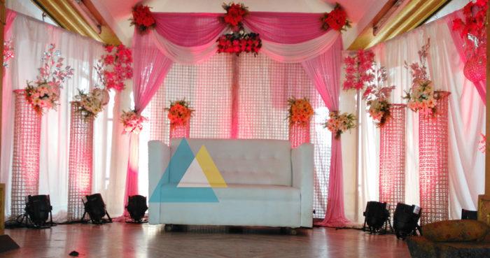Reception decoration at Samikannu Mandapam Podnicherry (2)