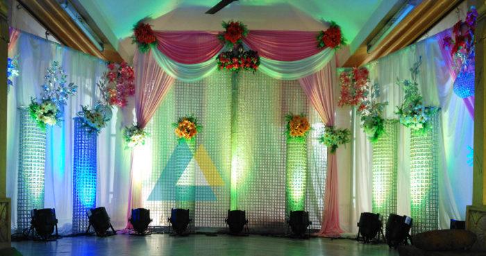 Reception decoration at Samikannu Mandapam Podnicherry (4)