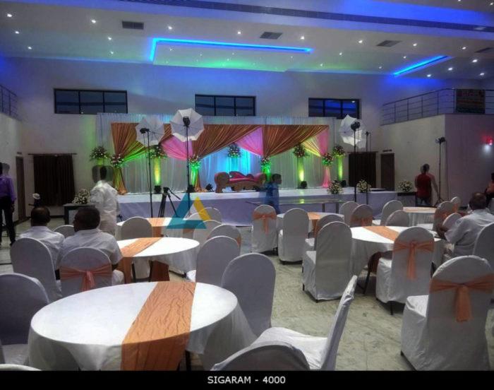 Round table and Banquet chairs at Logalakshmi Mahal, Villupuram (2)
