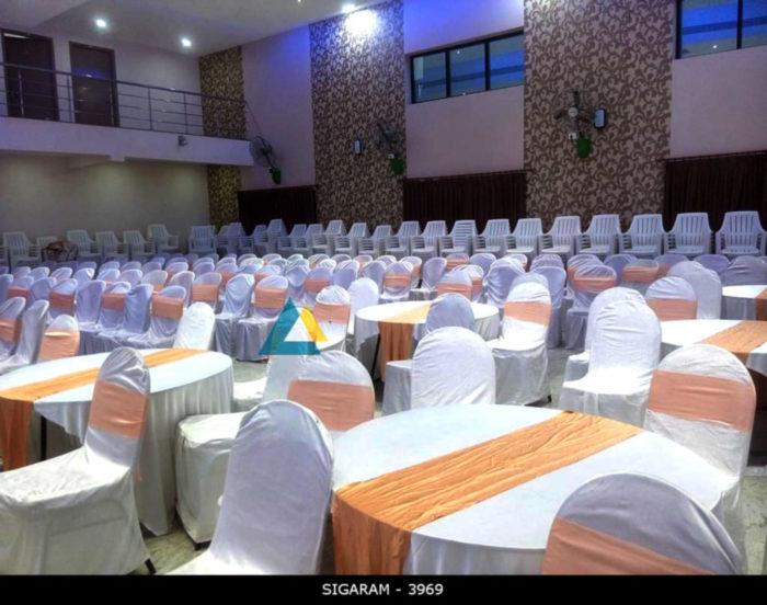 Round table and Banquet chairs at Logalakshmi Mahal, Villupuram (3)