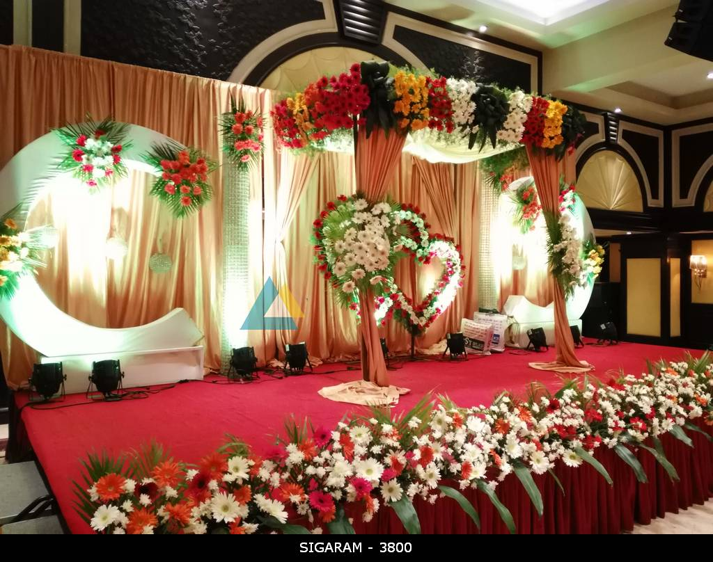 Reception Decoration At Anandha Inn Hotel Pondicherry Wedding Decorators In Pondicherry