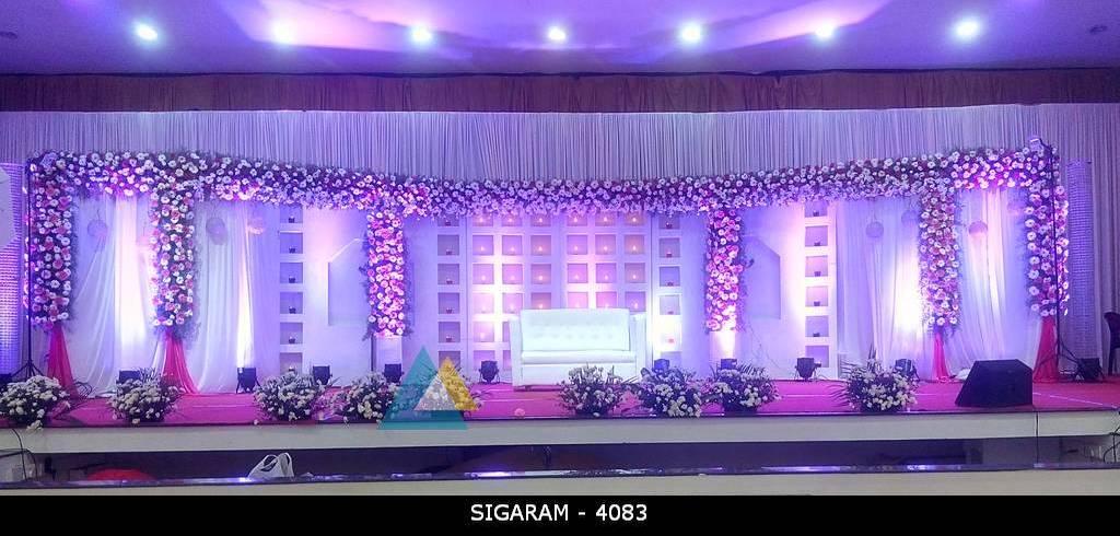 Wedding Reception Decoration Done At Bkn Auditorium Purasaiwakkam