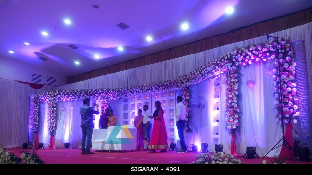 Wedding Reception Decoration Done At BKN Auditorium Purasaiwakkam Chennai Wedding Decorators