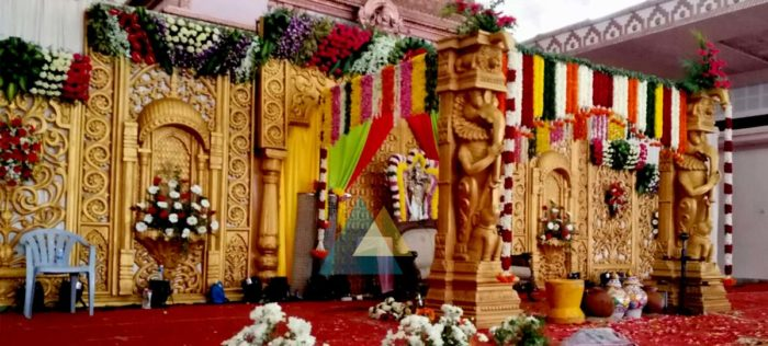 Wedding Reception Decoration at Jayaram Mandapam Pondicherry (1)