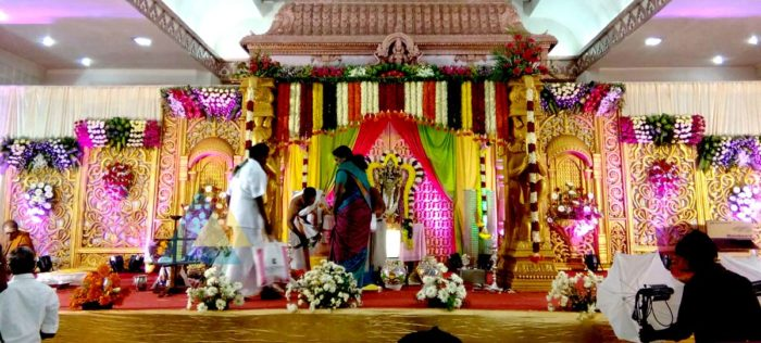Wedding Reception Decoration at Jayaram Mandapam Pondicherry (2)