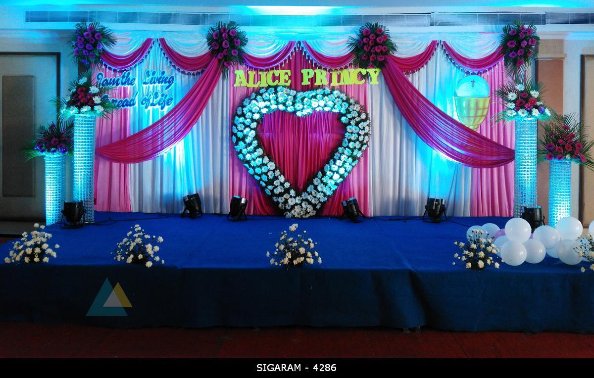 Wedding Reception Decoration Done At Mass Hotel Pondicherry Wedding Decorators In Pondicherry