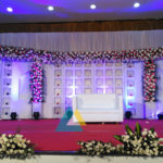 Wedding Reception Decoration done at BKN Auditorium, Purasaiwakkam, Chennai