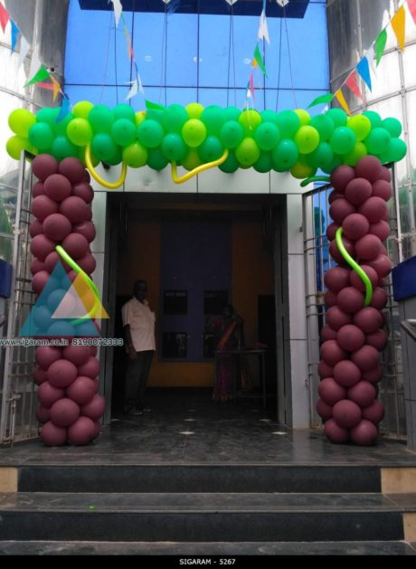 Forest themed birthday decoration done on 11th september for Balloon decoration in coimbatore