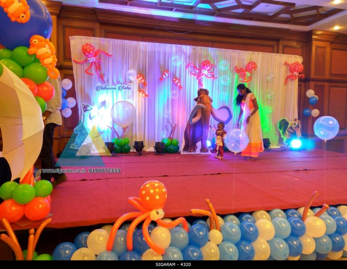 Themed Birthday Party Decoration At Hotel Shenbaga Convention Center Puducherry Sigaram Wedding