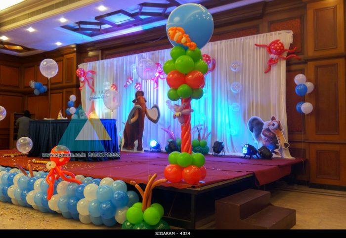 Themed Birthday Party Decoration At Hotel Shenbaga