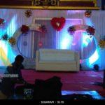 Wedding Reception Decoration at Sai Baba Kalyana Mandapam, Puducherry