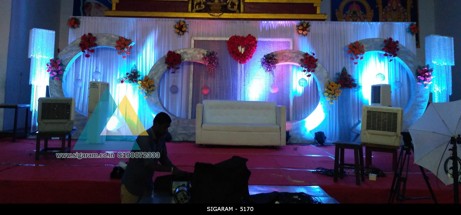 Reception decoration at Sai Baba mandapam Pondicherry (1)