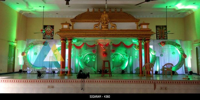Wedding Reception decoratin at Ambal Mandapam (1)