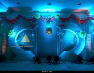 Wedding Reception decoration at Ambal Mandapam