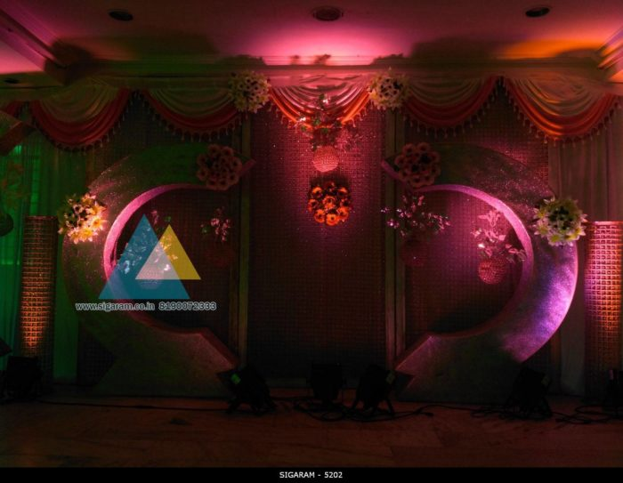 Wedding Reception decoration at Ambal Mandapam