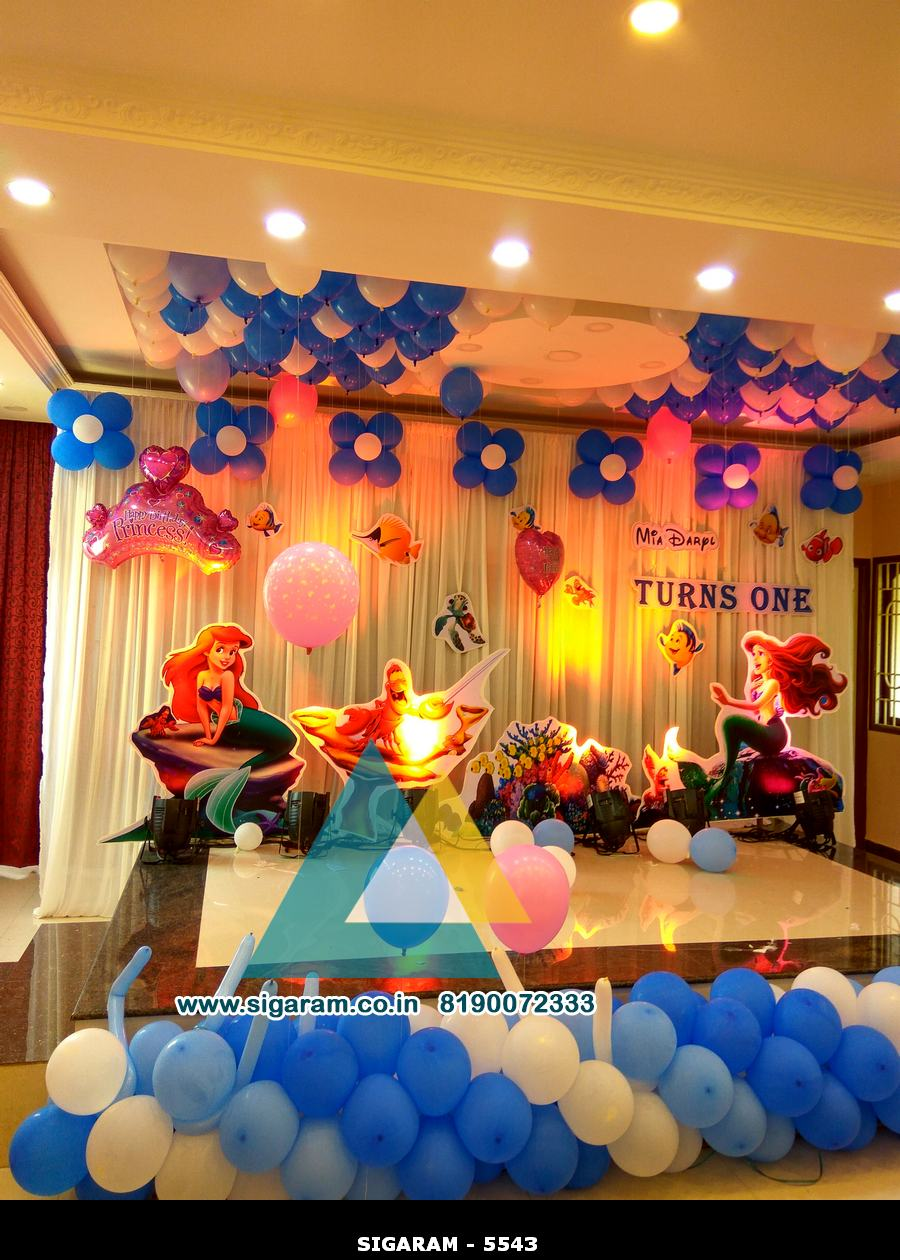 Little Mermaid Themed Birthday Decoration Celebration Hall