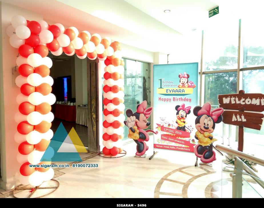 Mickey themed birthday decoration atithi hotel for 17th birthday decoration ideas