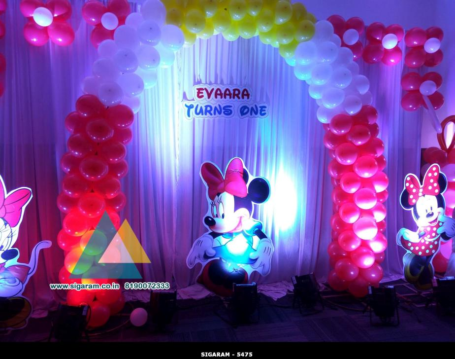 Mickey themed Birthday Decoration Atithi Hotel Puducherry