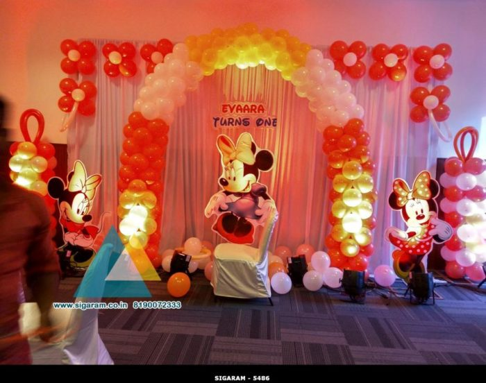 mickey themed birthday decoration atithi hotel puducherry 171 wedding decorators in pondicherry