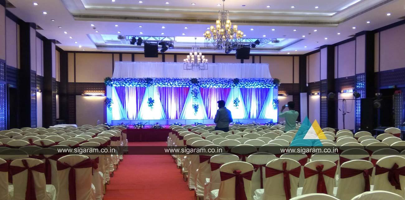 Reception Stage Decoration Anandha Inn Puducherry Sigaram Wedding Decorators