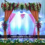 Reception and Wedding Stage decoration at Shri Janani Thirumana Maligai, Puducherry