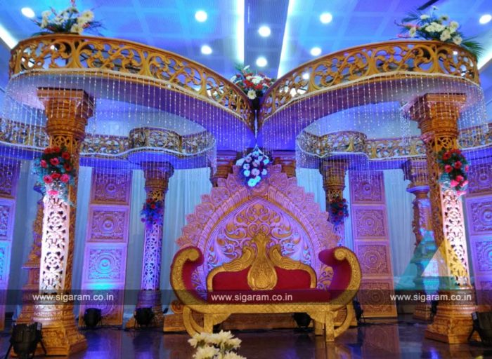 Wedding Mandap Stage Decoration at Anandha Thirumana Nilayam, Puducherry