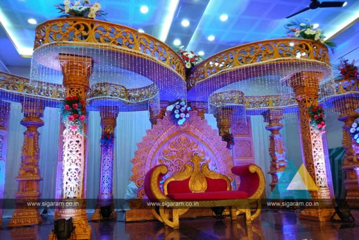 Wedding Mandap Stage Decoration at Anandha Thirumana Nilayam, Puducherry, Fiber Decoration