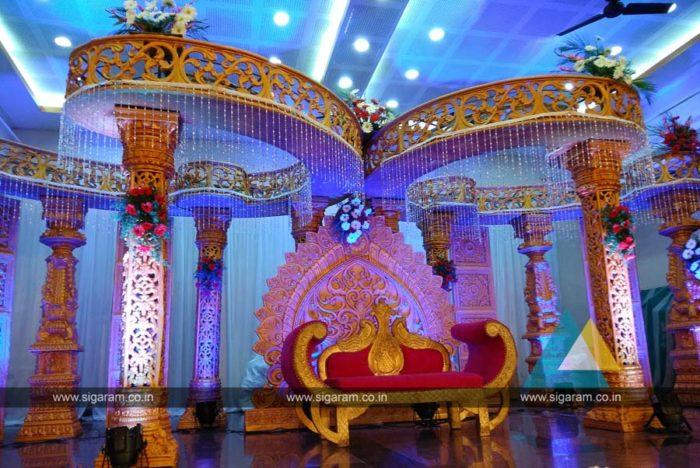 Wedding Mandap Stage Decoration at Anandha Thirumana Nilayam, Puducherry, Fiber Decoration