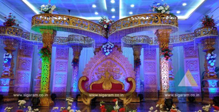 Wedding Mandap Decoration at Anandha Thirumana Nilayam, Puducherry