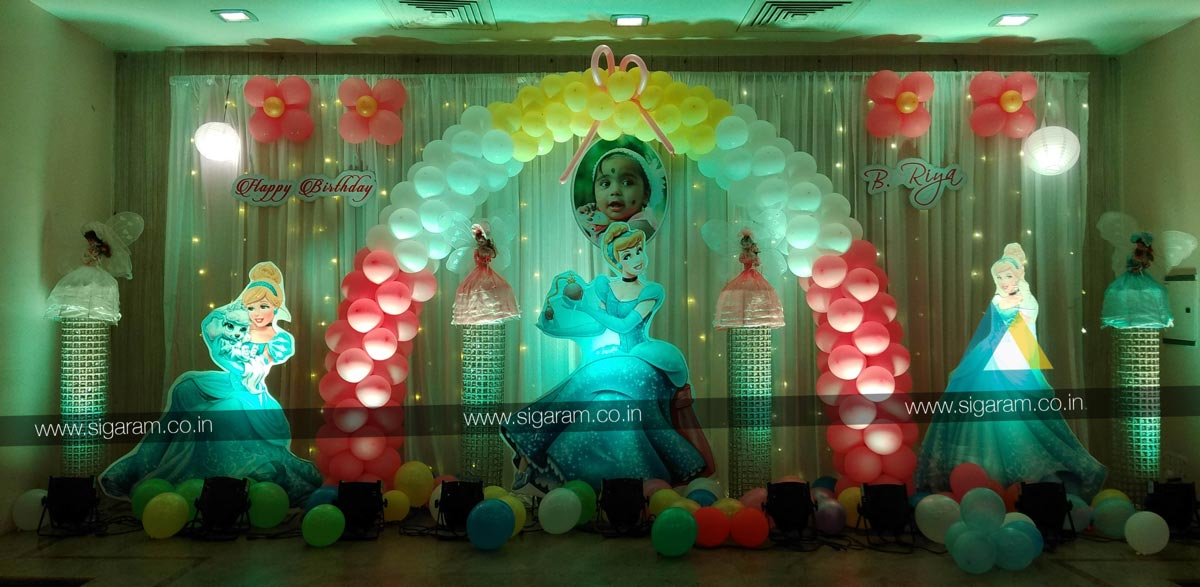 Cinderella Themed Birthday Party Decoration Hotel Green Palace
