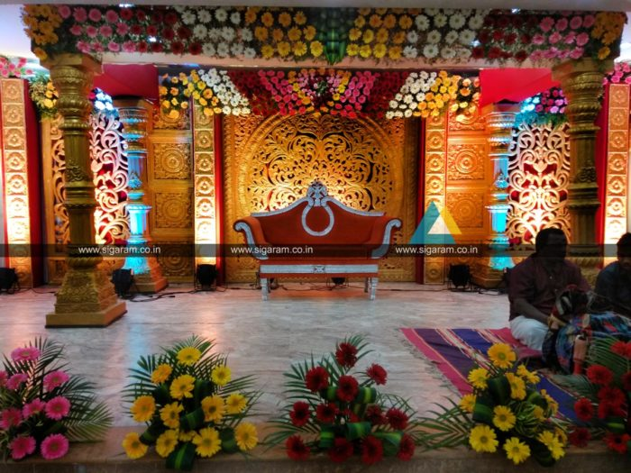 Wedding decoration at Ponmani arangam Chidambaram (1)