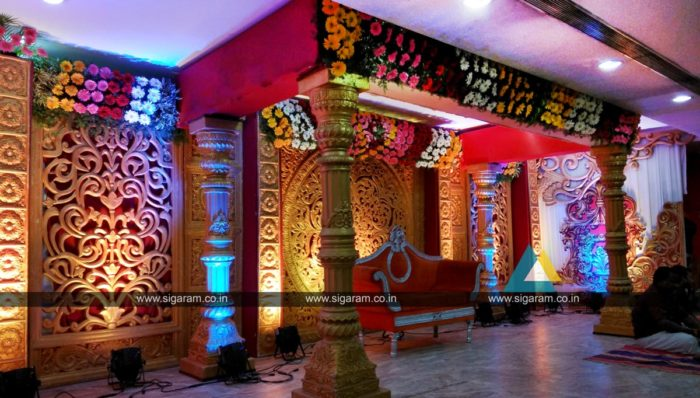 Wedding decoration at Ponmani arangam Chidambaram (2)
