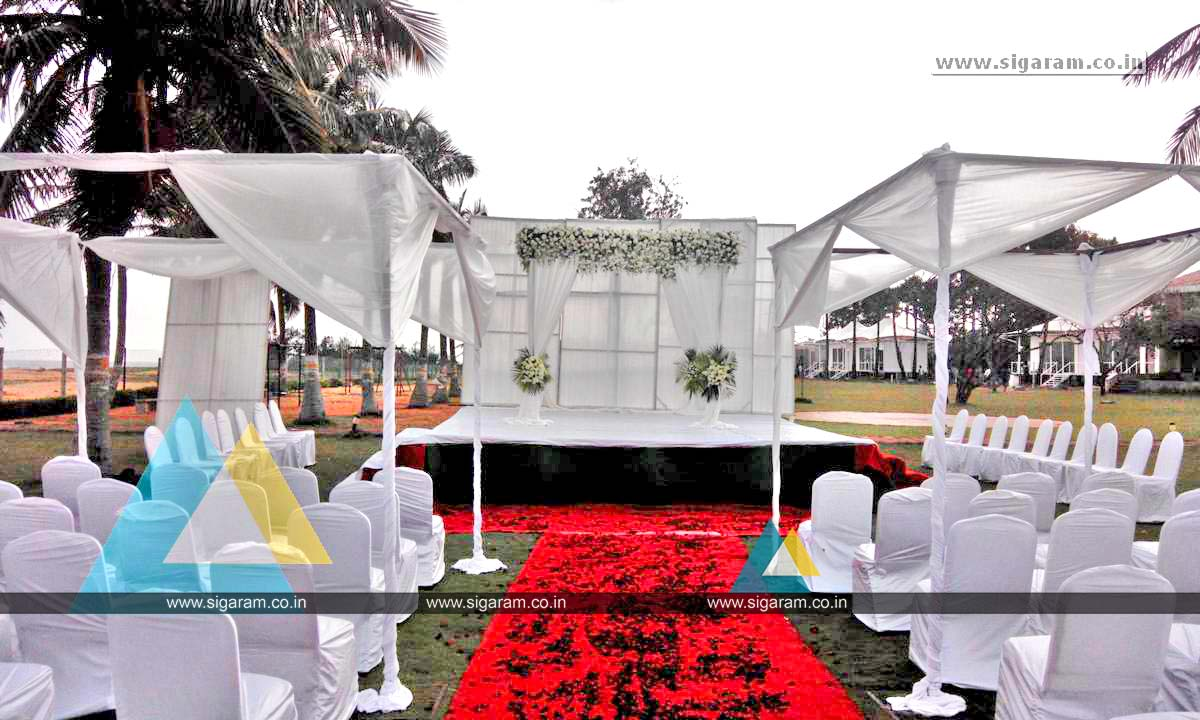 Butterflies Themed Birthday Decoration at Ashok Beach Resort ...