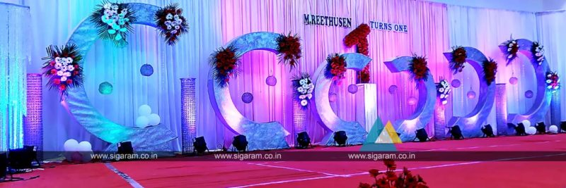 Birthday party decoration harsha gardens padapai for Balloon decoration in chennai