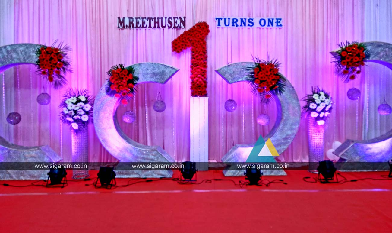 Birthday decoration on stage for Balloon decoration in coimbatore