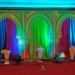 Mehandi Stage decoration done at Hotel Shenbaga Convention Centre, Puducherry