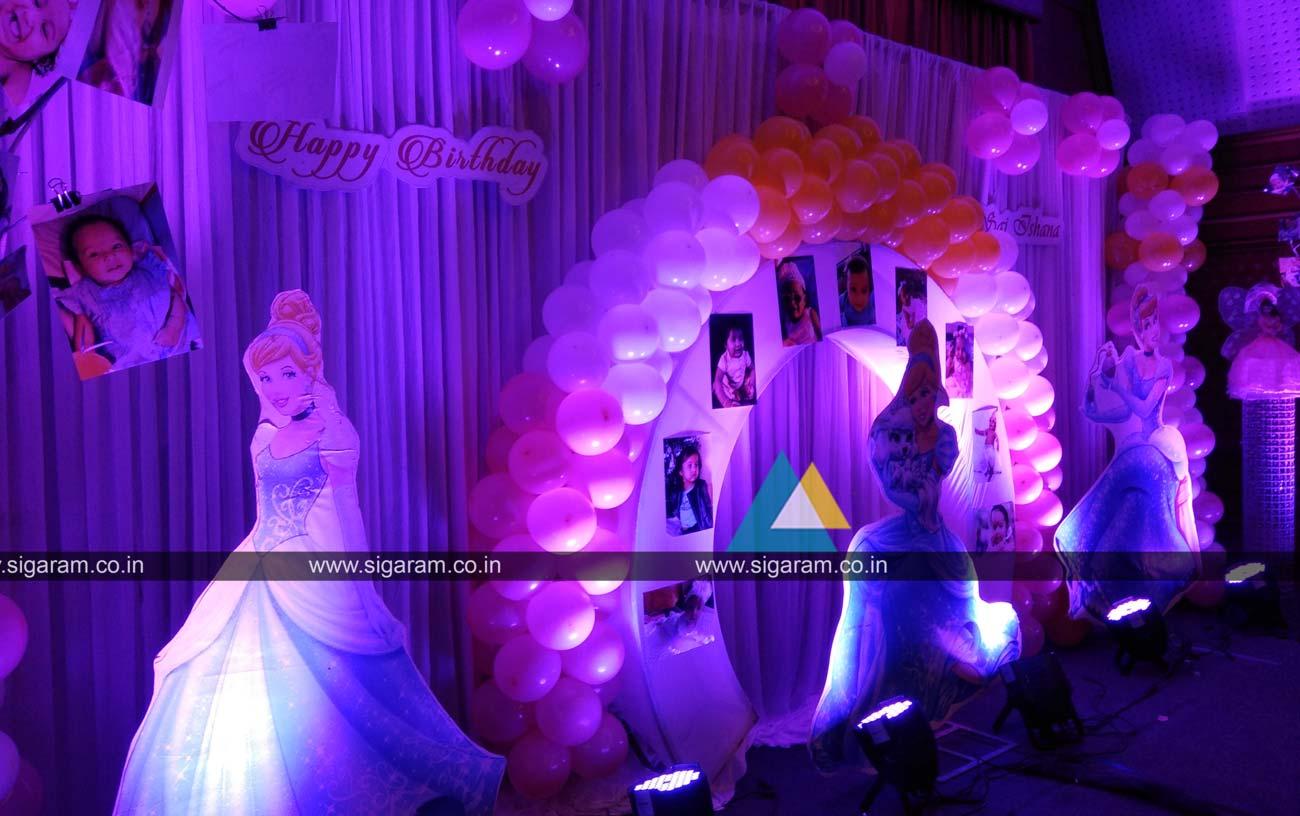Princess Themed Birthday Party Decoration @ Annamalai ...