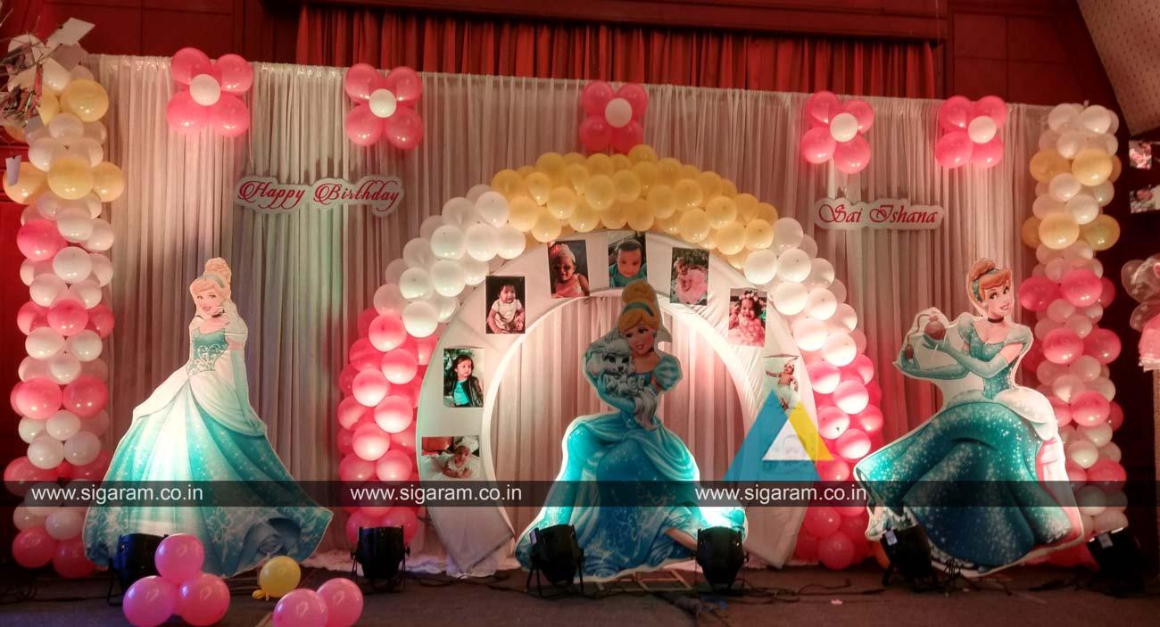 Princess themed birthday party decoration annamalai for Princess dekoration