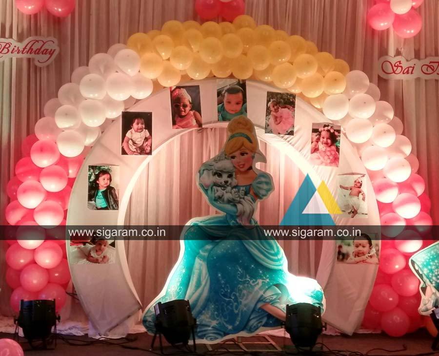 Princess Themed Birthday Party Decoration Annamalai