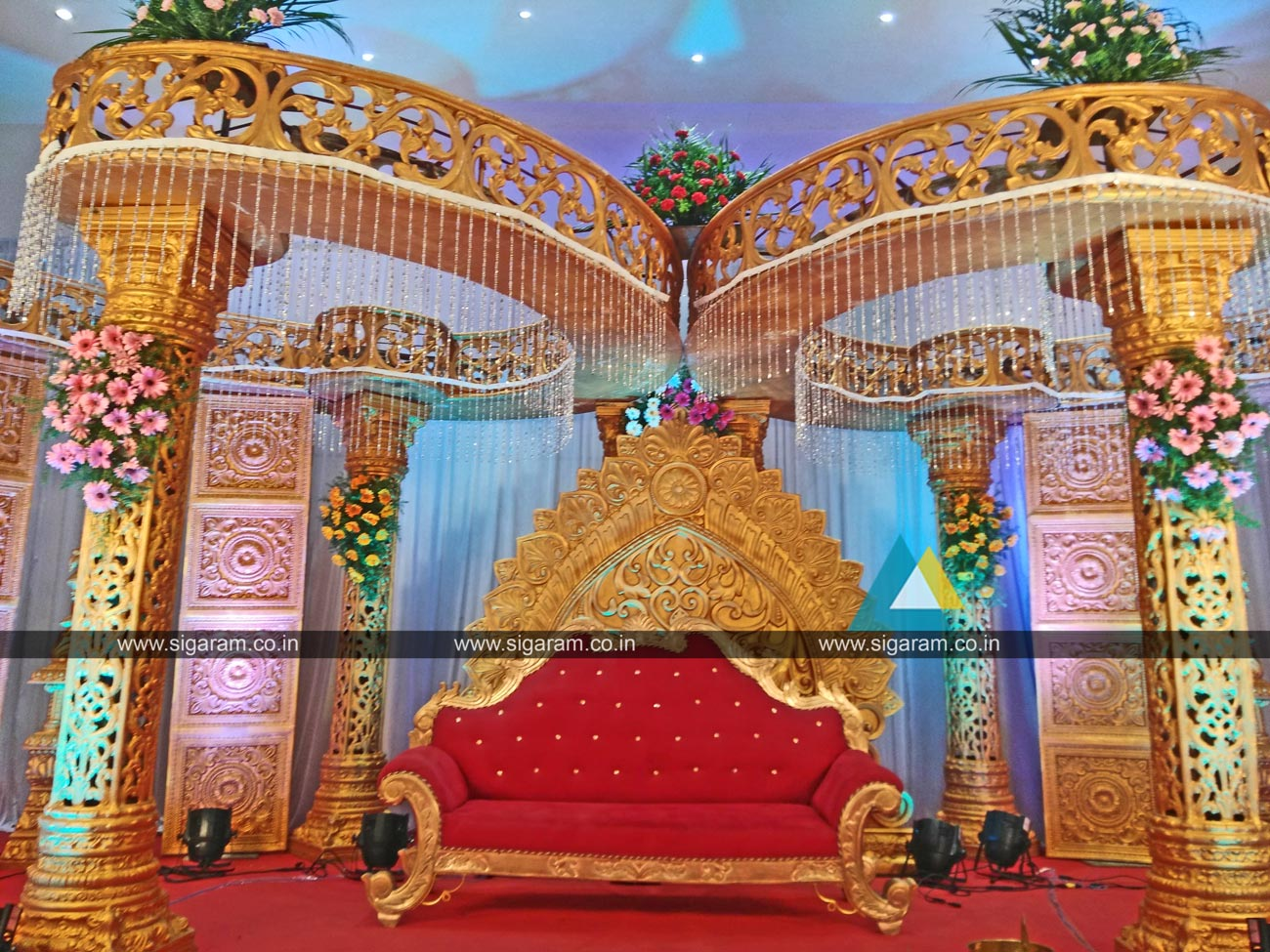 Reception and Wedding Stage Decoration @ Logalakshmi Mahal ... on