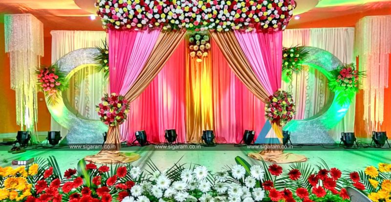 Baby shower sigaram wedding decorators for Marriage decoration photos