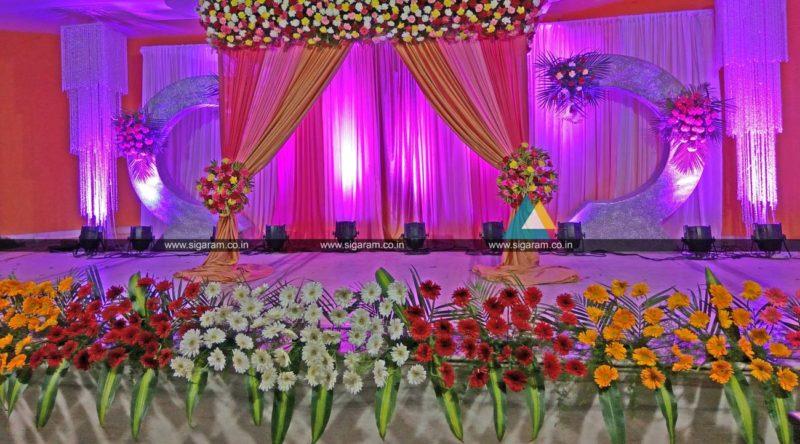 Valaikappu stage decoration at jayaram hotel pondicherry for Baby shower stage decoration