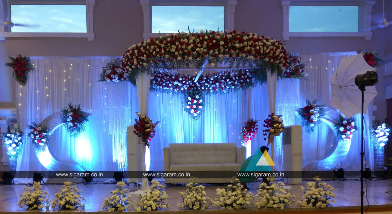 reception and wedding decoration shri thangamayil thirumana mandapam mailam sigaram wedding. Black Bedroom Furniture Sets. Home Design Ideas