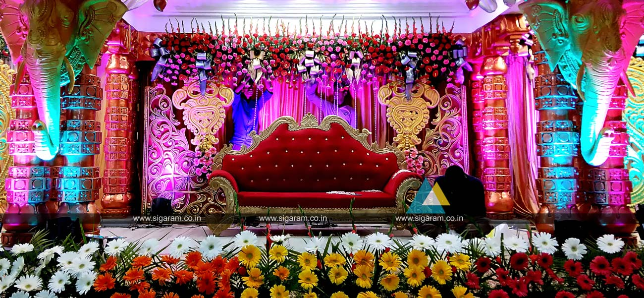 Wedding Stage Decoration Vel Sokkanathan Thirmana Nilayam