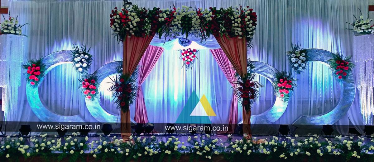Wedding stage decoration photos in tamilnadu : Reception decoration wedding
