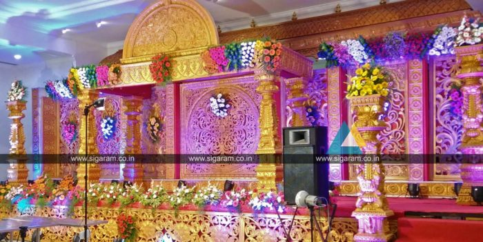 Wedding sigaram wedding decorators for Baby shower stage decoration