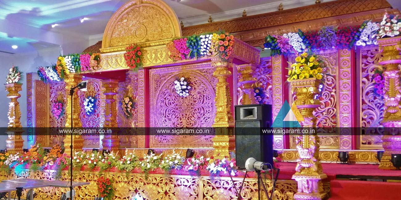 Reception and Wedding stage Decoration done at NT Mahal, Puducherry ...