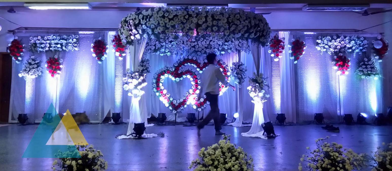 wedding stage decoration in neyveli block 24 community hall sigaram wedding decorators. Black Bedroom Furniture Sets. Home Design Ideas