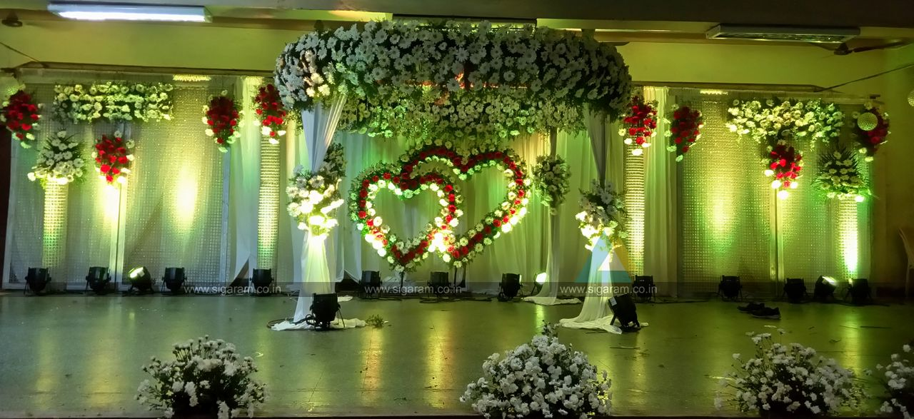 wedding stage decorations in - photo #20